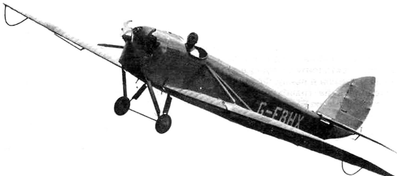 Отреставрированный DH.53 с мотором «Скорпион» в полете, 1974 г.