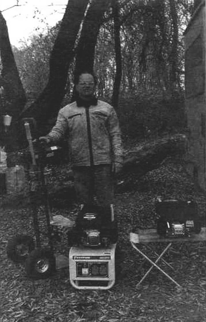Ока, осень 2014 года, автор на ходовых испытаниях «газонокосилок»