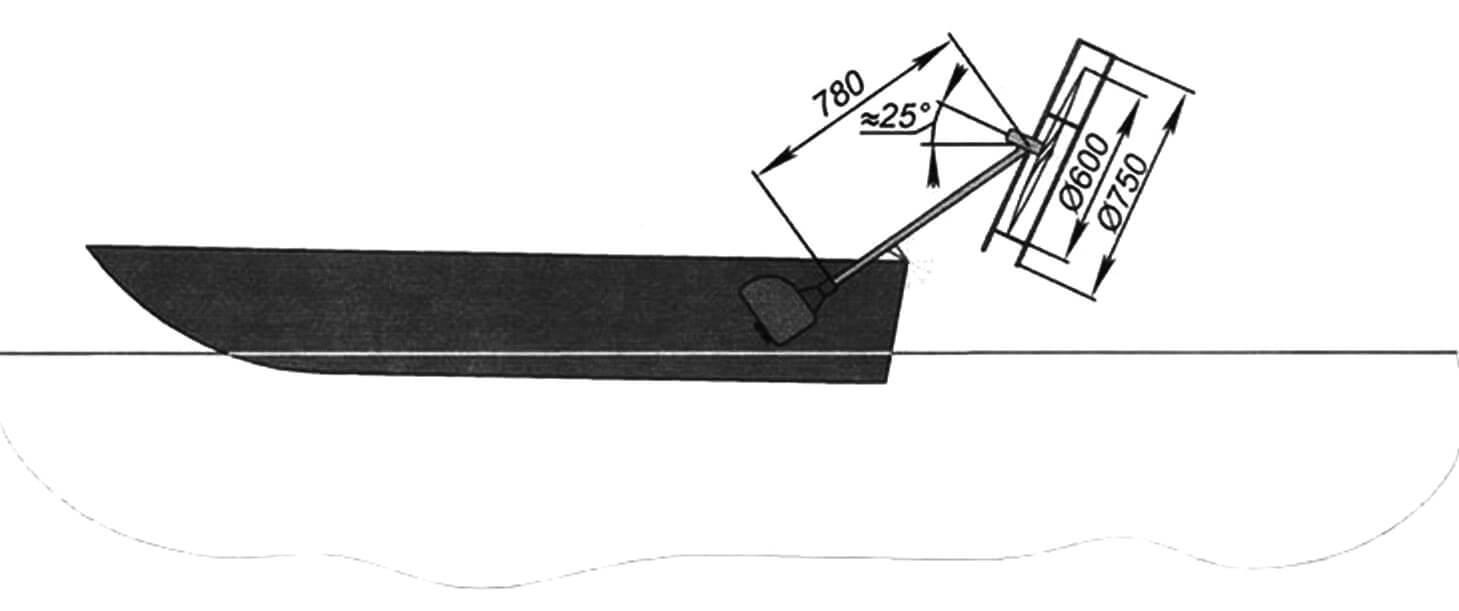 Компоновка мотолодки с подвесным «аэромотором»
