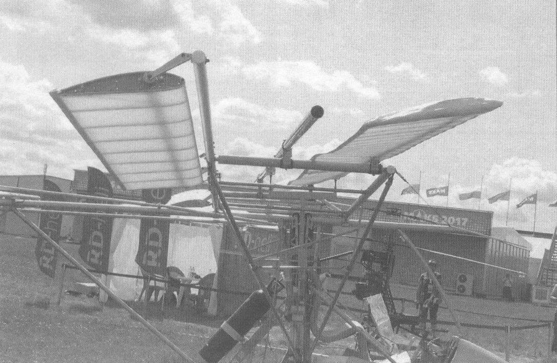 Крыльевая система орнитоптера без заднего крыла