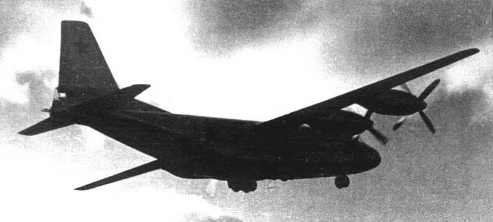 Модель четырехдвигательного варианта Ан-8