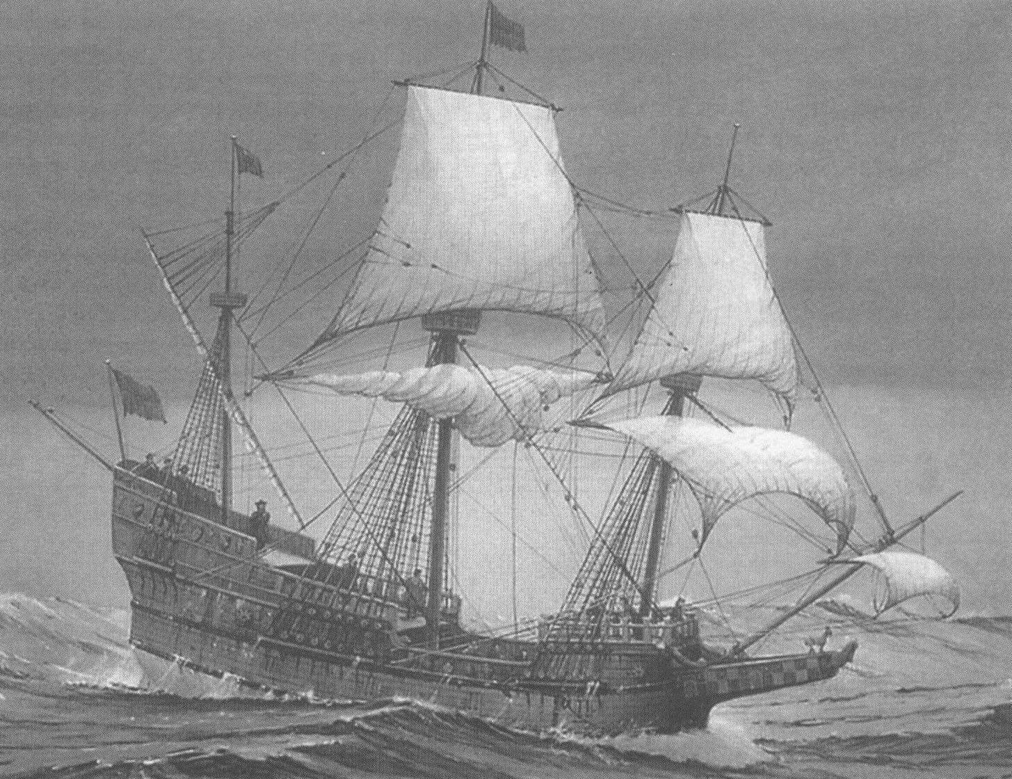 Еще одно изображение корабля Дрейка, созданное нашим современником