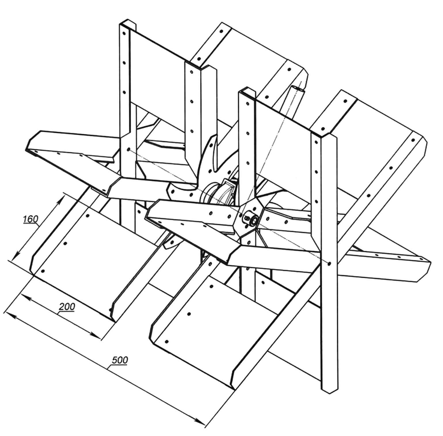 Конструкция движительно-рулевого комплекса