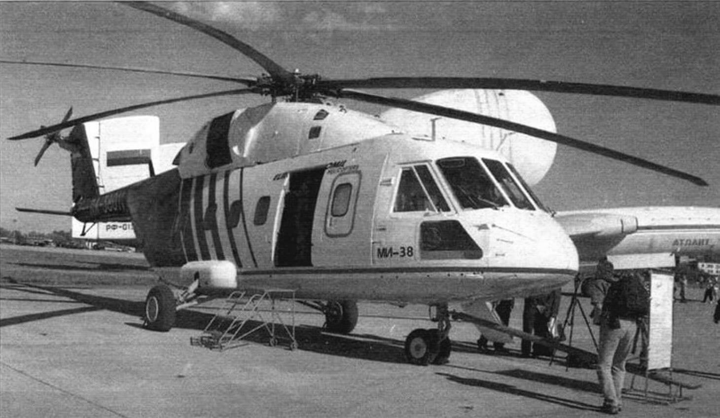 Первый опытный экземпляр Ми-38 (ОП-1) с двигателями PW127T/S