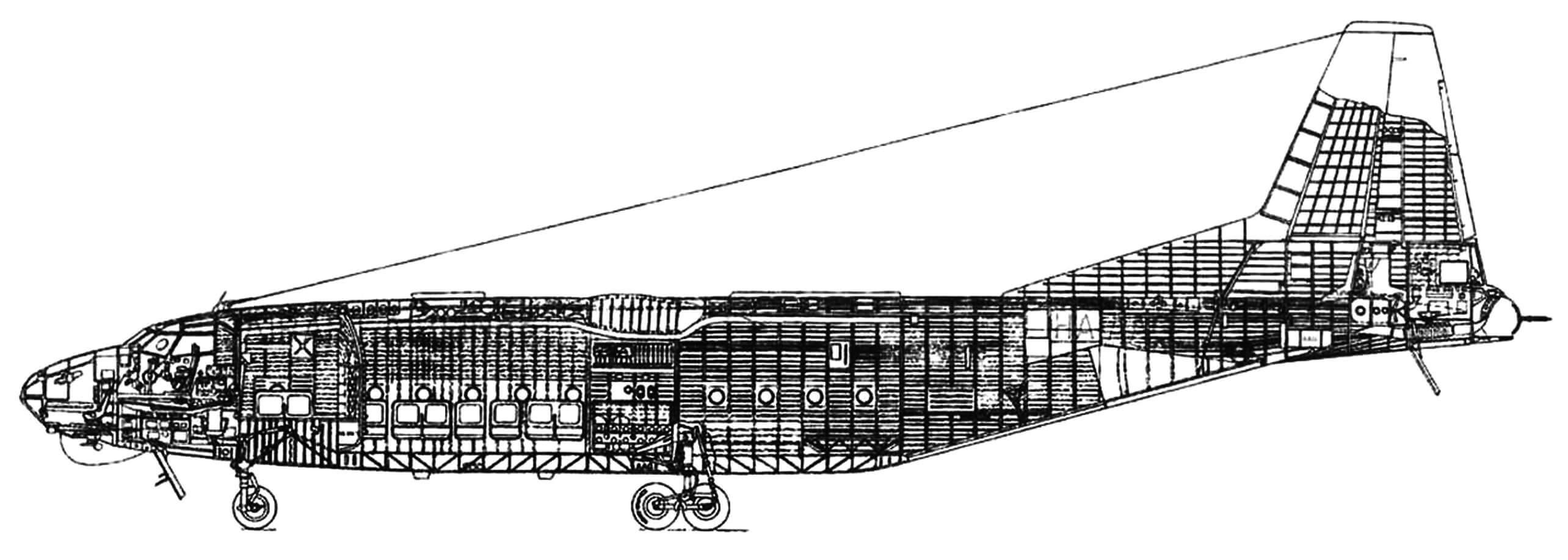 Компоновка самолета Ан-8