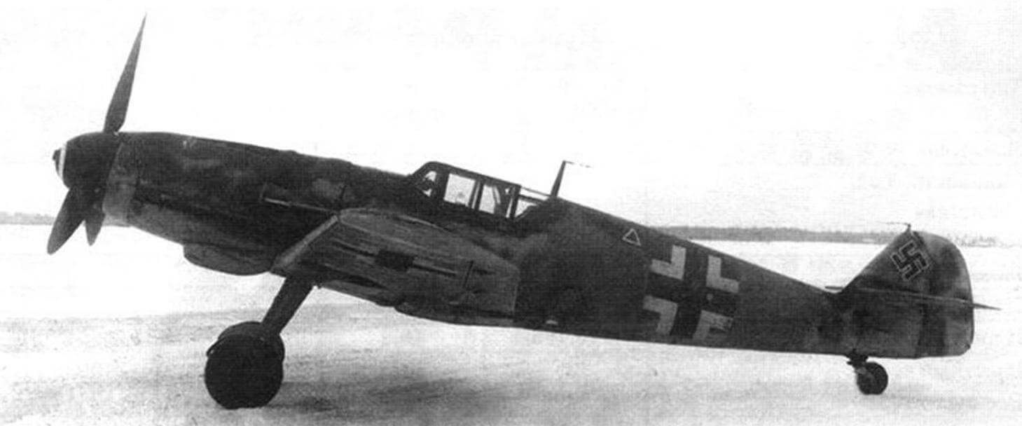 Bf 109G-6 на аэродроме НИИ ВВС, 1944 г.
