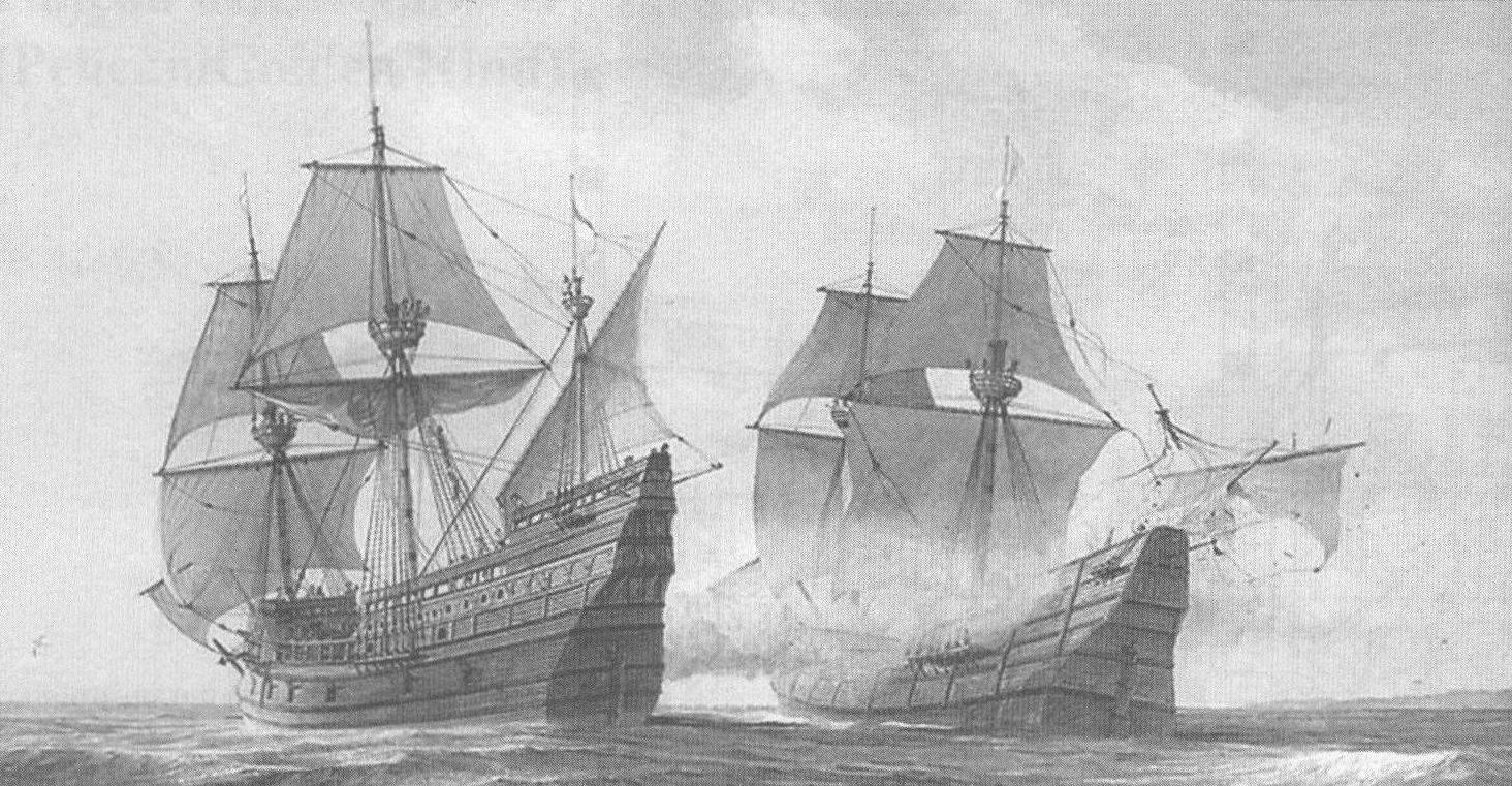 «Голден Хайнд» атакует испанский галеон «Нуэстра Сеньора де ла Консепсьон» (Nuestra Senora de la Concepcion), более известный по данному самими моряками прозвищу «Кака-фуэго». На этом корабле англичане захватили богатейшую добычу