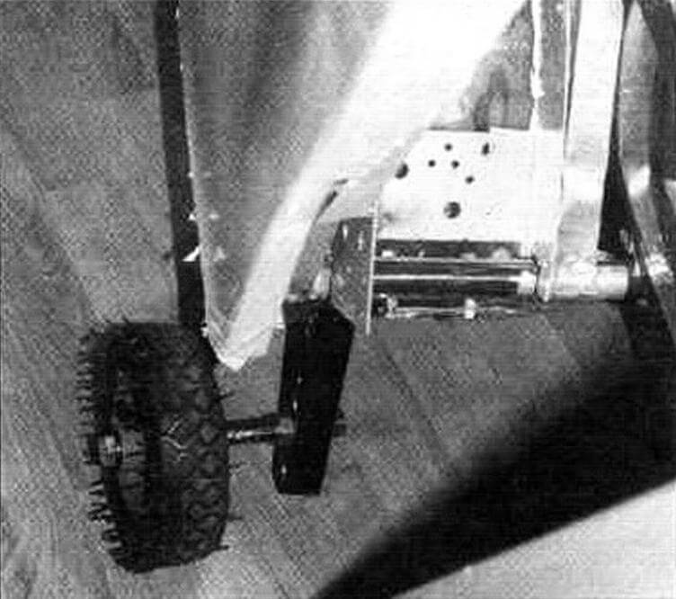 Опорное колесо и механизм его подъема