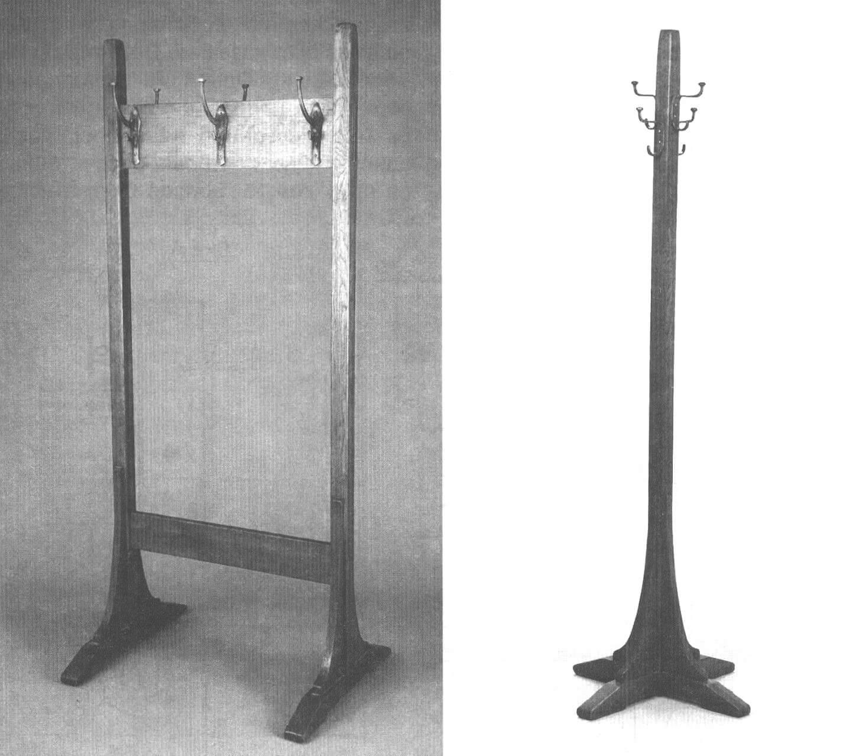 Другие варианты вешалок, изготовленных Стикли: с увеличенными перекладинами и одностоечная