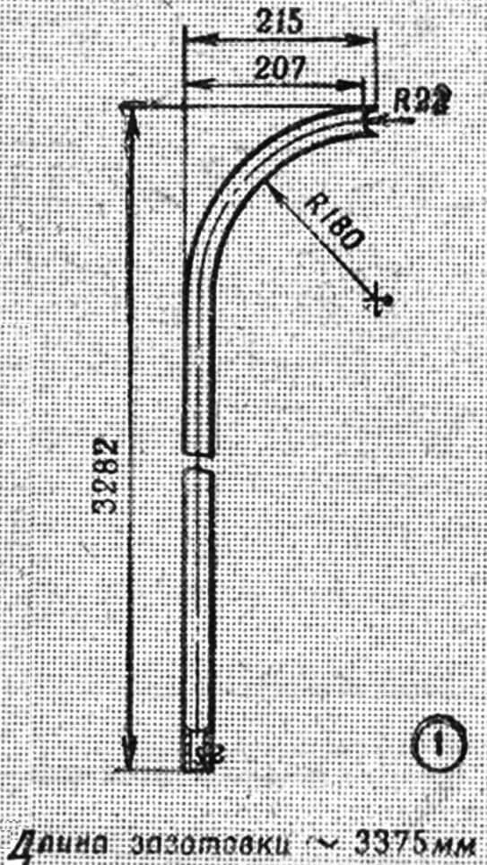 Рис. 2. Детали гимнастической стенки: 1 — стойка, 2 — перекладина.