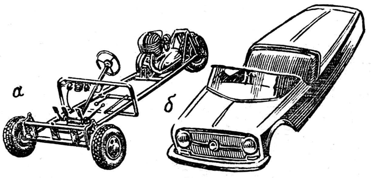Рис. 2. Вид ходовой части со снятым кузовом.