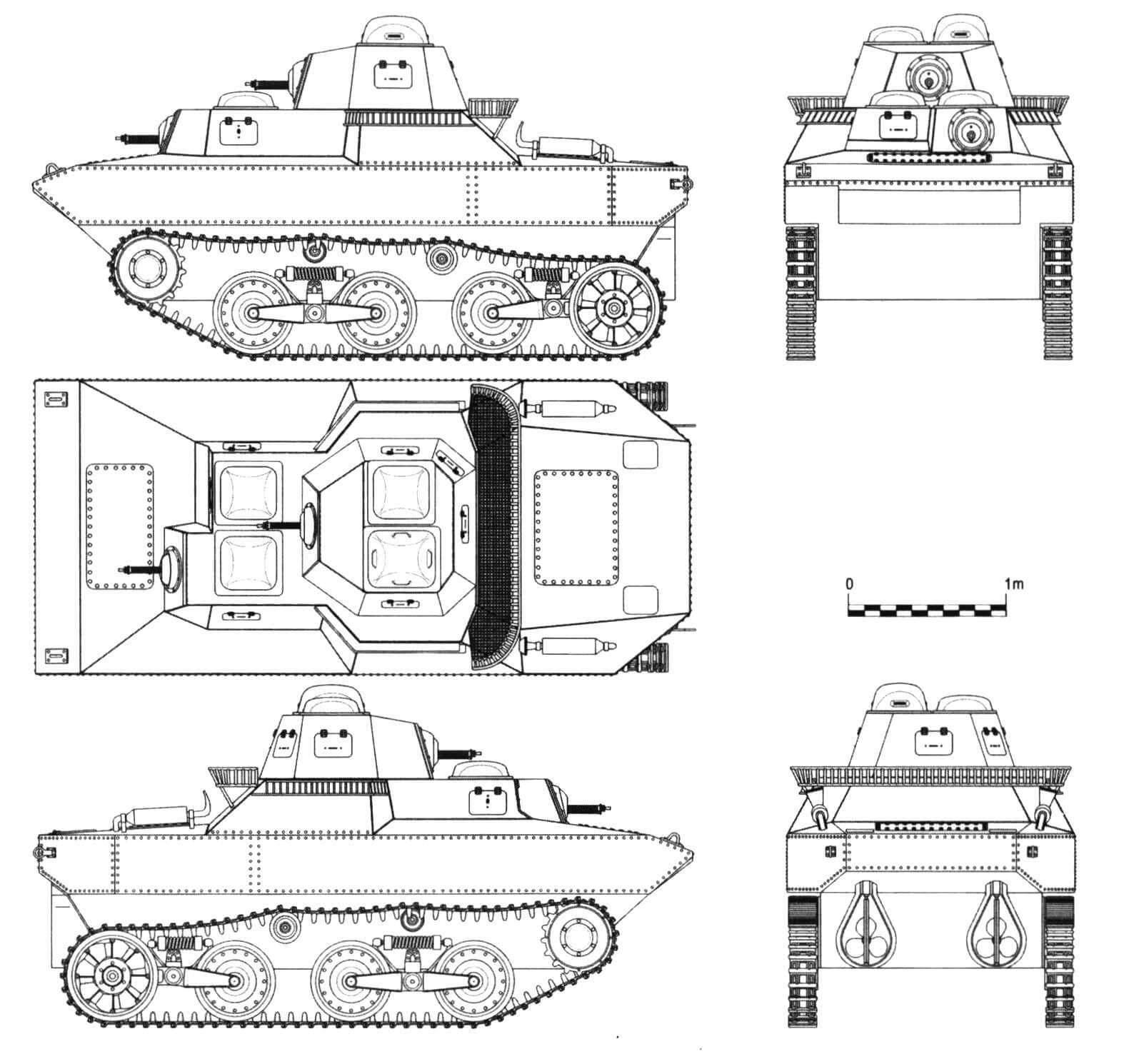 Плавающий танк фирмы «Ичикаджима» SR II