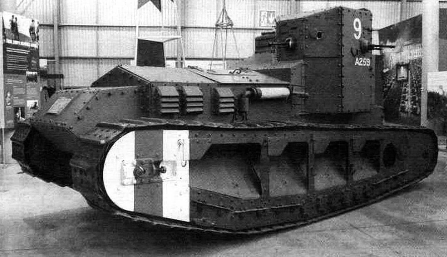 Танк Mk. А Whippet в экспозиции Бовингтонского музея