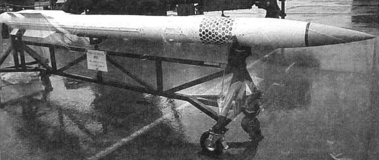 Ракета MIM-104F (РАС-3) комплекса «Пэтриот» оптимизирована дли поражения баллистических целей. Ракета закрыта от дождя целлофаном, но сопла микродвигателей системы управления рассмотреть можно