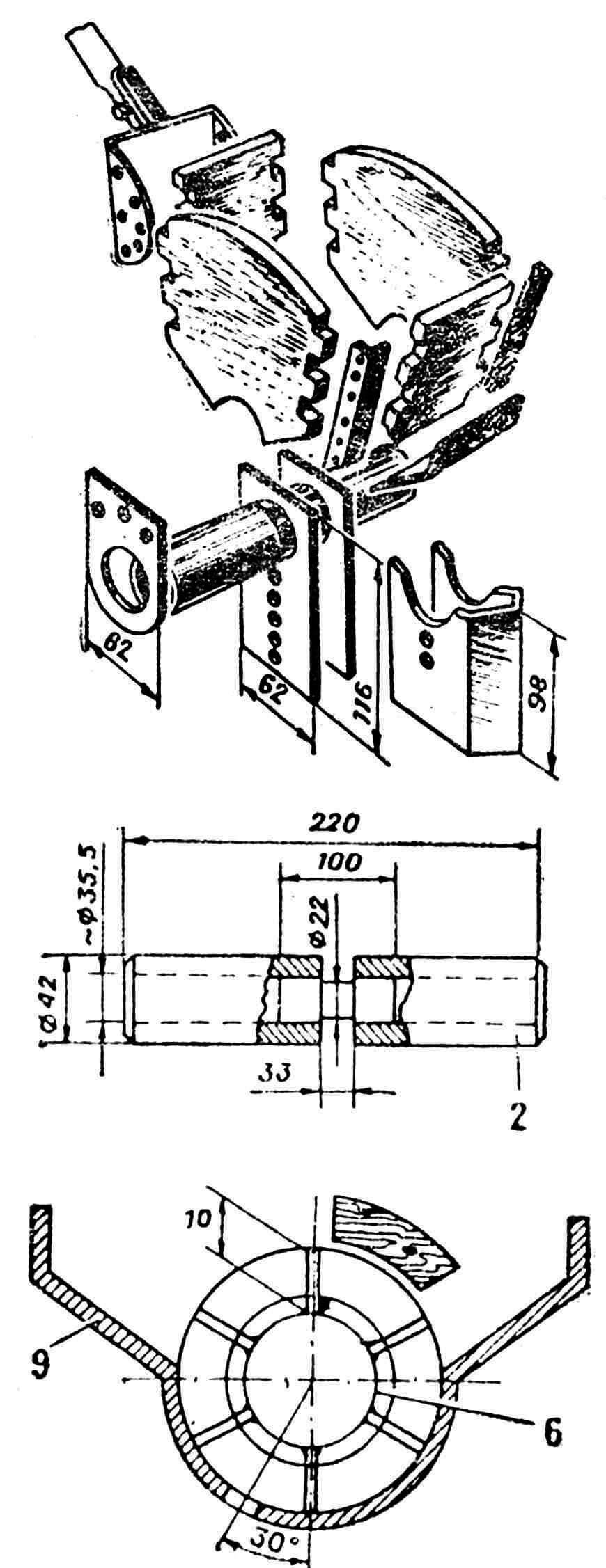 Рис. 2. Семенной ящик и высевающий узел.