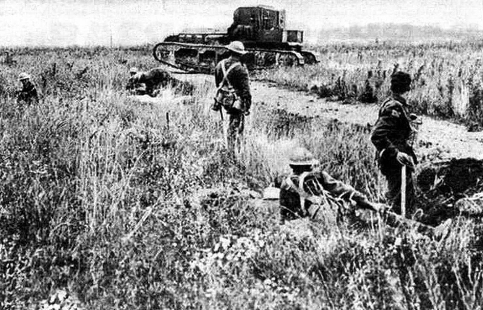Мk. А Whippet использовали для поддержки английской пехоты во Франции