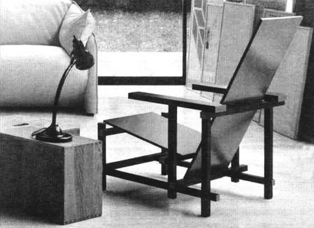 Модное и функциональное украшение с доставкой в Москву - «кресло Ритвельда» - можно сегодня заказать через интернет-магазин за 669 евро. Или сделать по его подобию собственный вариант