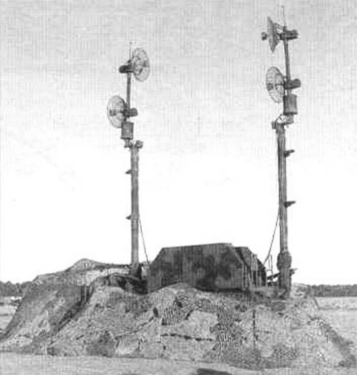 Радиорелейная станции ОЕ-349 принимает внешнее целеуказание и передает собственные данные на верхний уровень управления