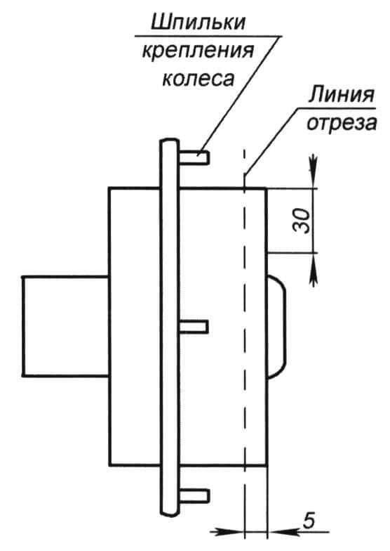 Рис. 2. Ступица колеса ЗАЗ-965