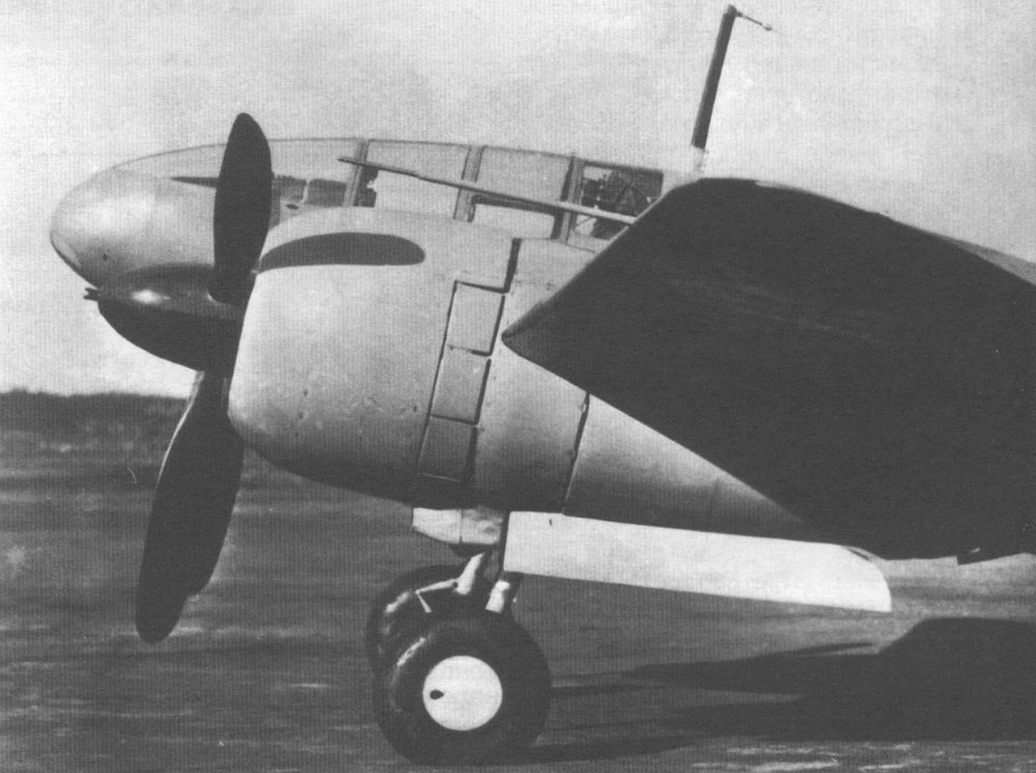 Силовая установка Ки-46-III, закрытая капотами