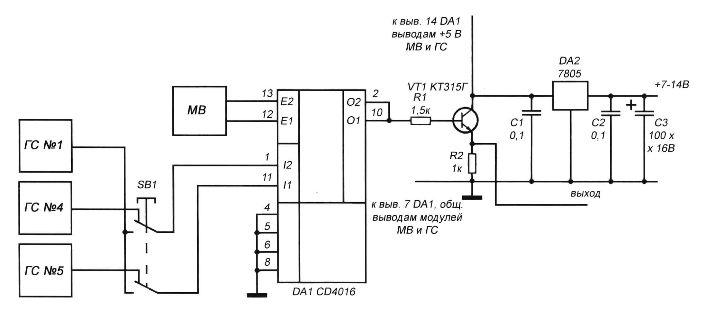 Рис. 4. Принципиальная схема шифратора «Такамина-Д»