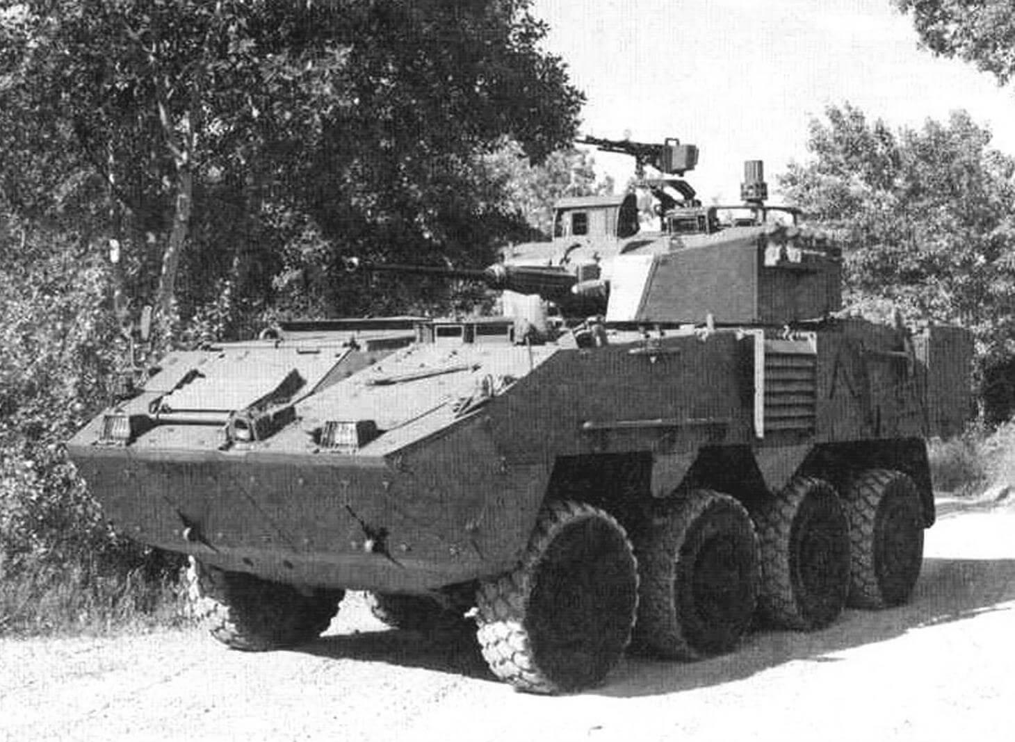 «Пандур» II с 25-мм пушкой и зенитным пулеметом