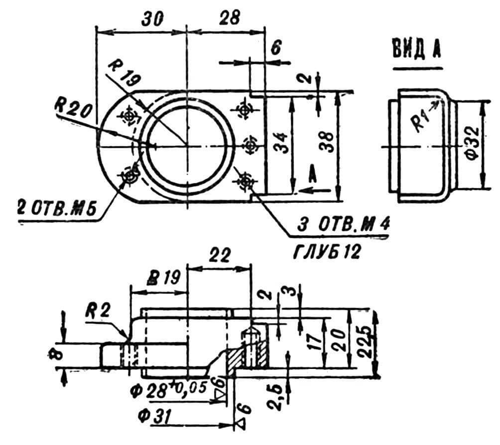 Вкладыш цилиндра (материал Д16Т).