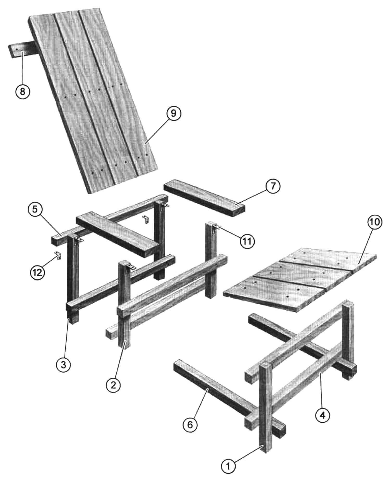 Кресло по мотивам «сине-красного стула»