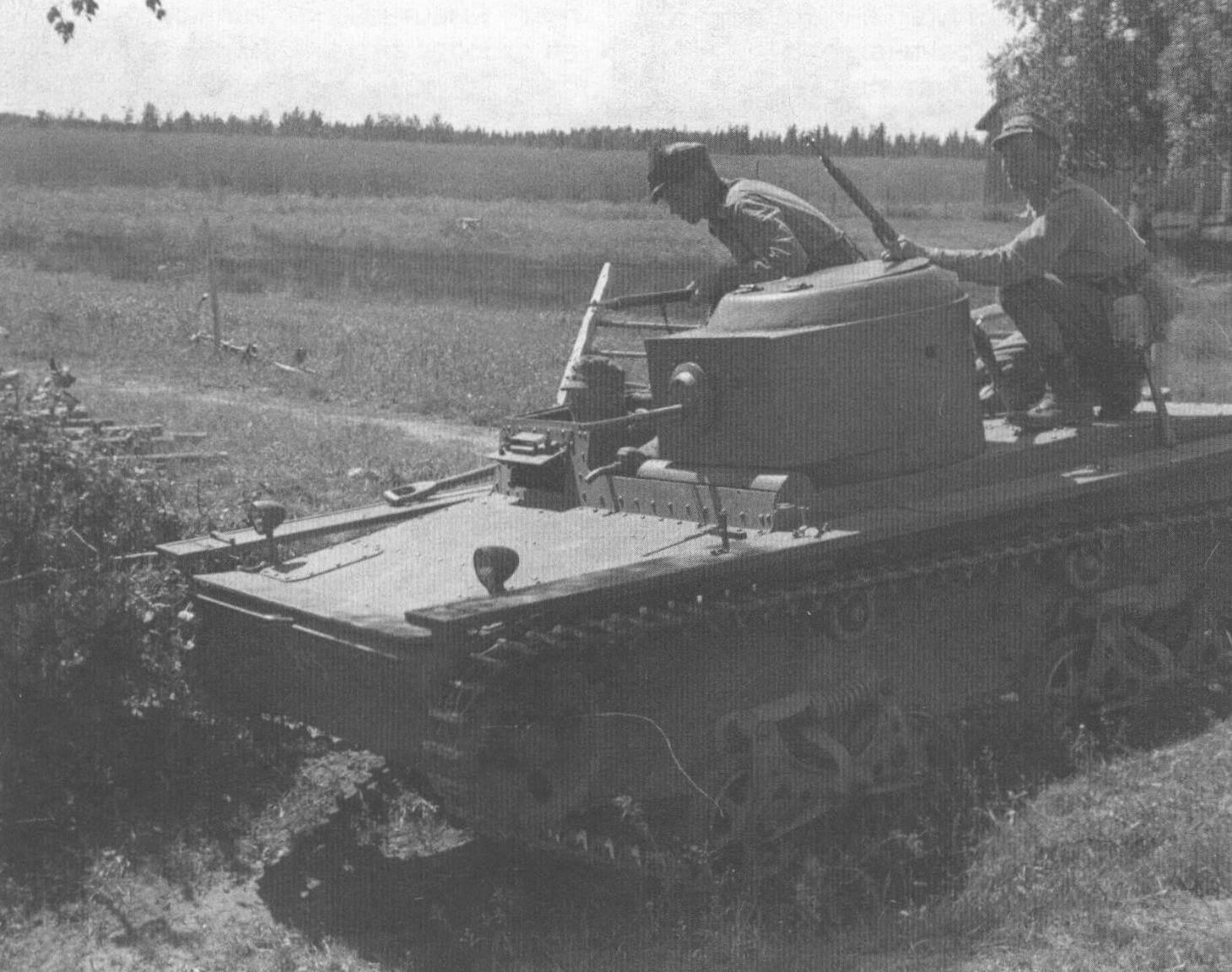 Т-38 на маневрах финской армии