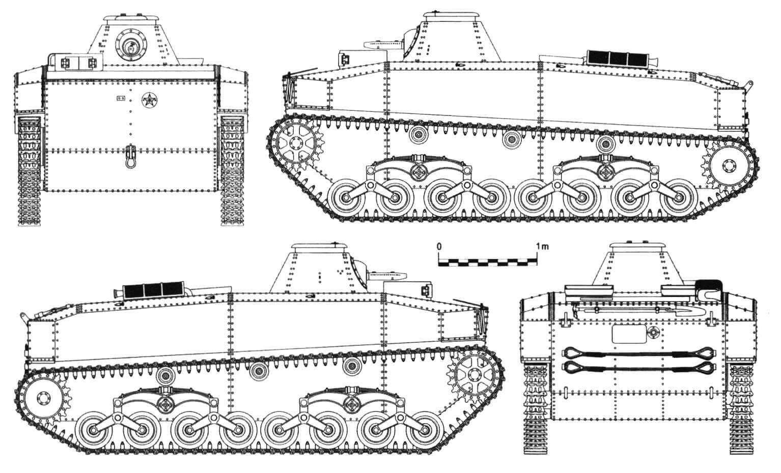 Плавающий танк фирмы «Мицубиси» SR I