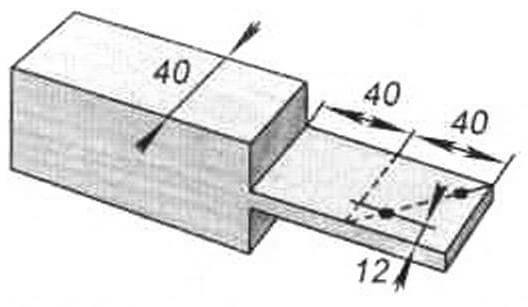 Шаблон-кондуктор дли разметки и сверления отверстий в углах поперечных рамок
