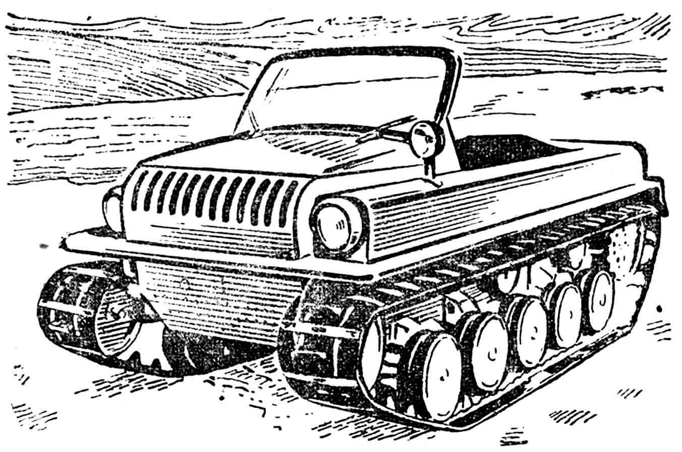 Снегоболотоход С-ГПИ-17.