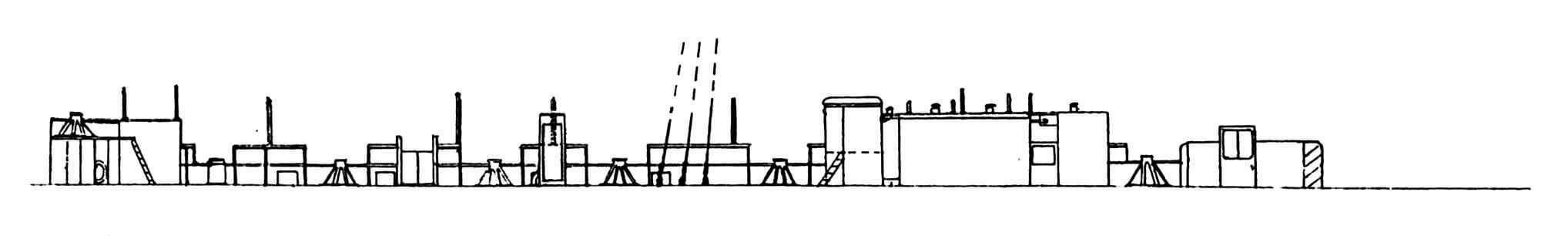 Вид на левый борт надстройки со стороны диаметральной плоскости