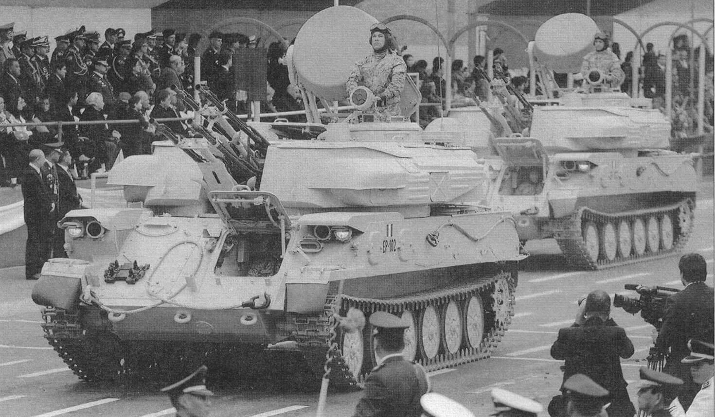 ЗСУ-23-4В1 армии Перу. Парад в честь 192-й годовщины независимости Перу. Лима, 29 июля 2013 года. Galeria del Ministerio de Defensa del Peru