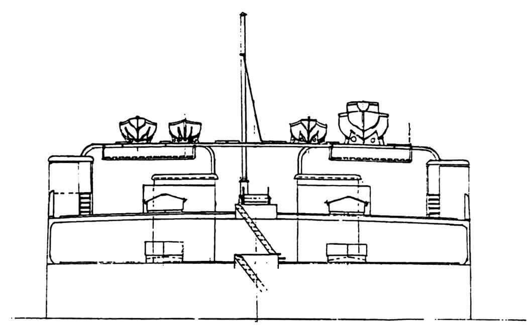 Вид на бортовые посты управления кораблем с носа