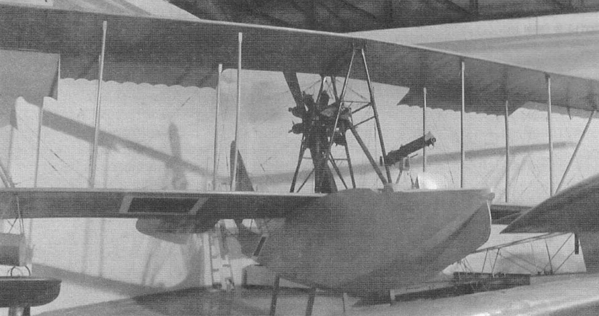 Летающая лодка М-5 конструкции Д.П. Григоровича. Обратите внимание, что на самолет нанесены турецкие опознавательные знаки