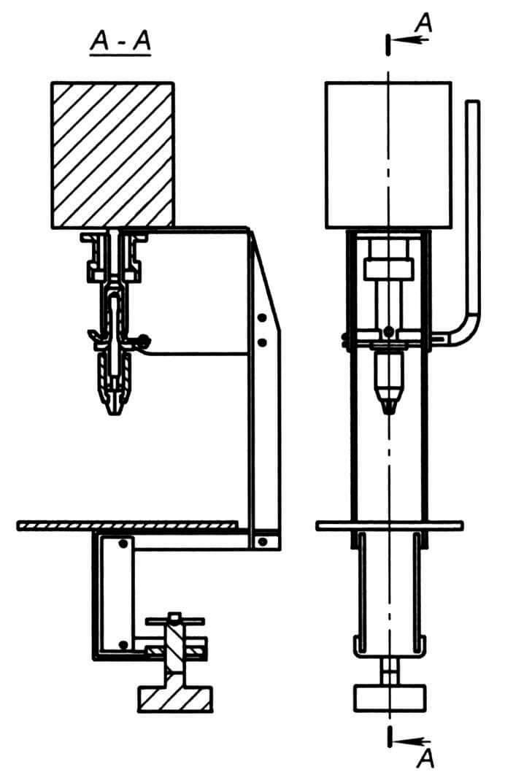 Сборочный чертеж первого варианта станка