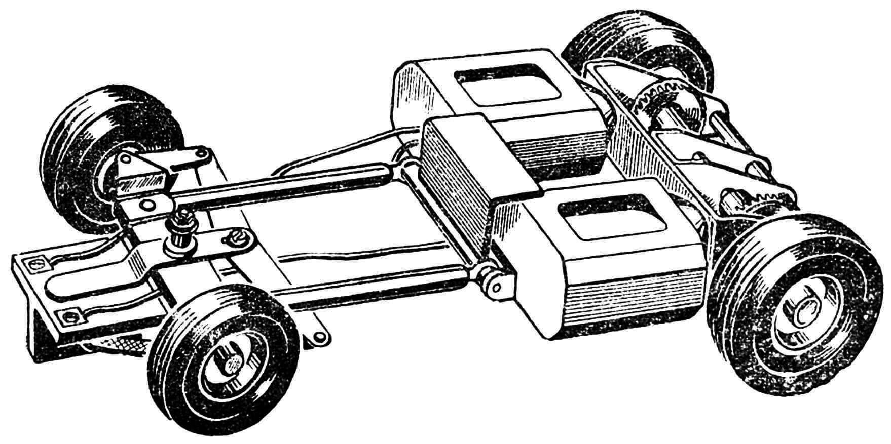 Рис. 2. Конструкция шасси.