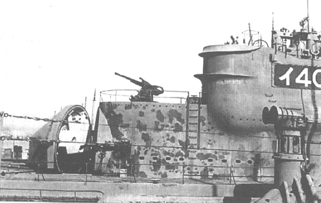 Фрагмент подводной лодки-авианосца I-400 с ангаром