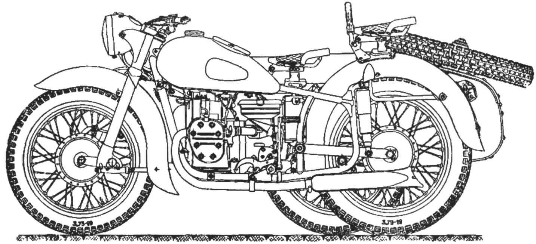 Вид сбоку мотоцикла К-750