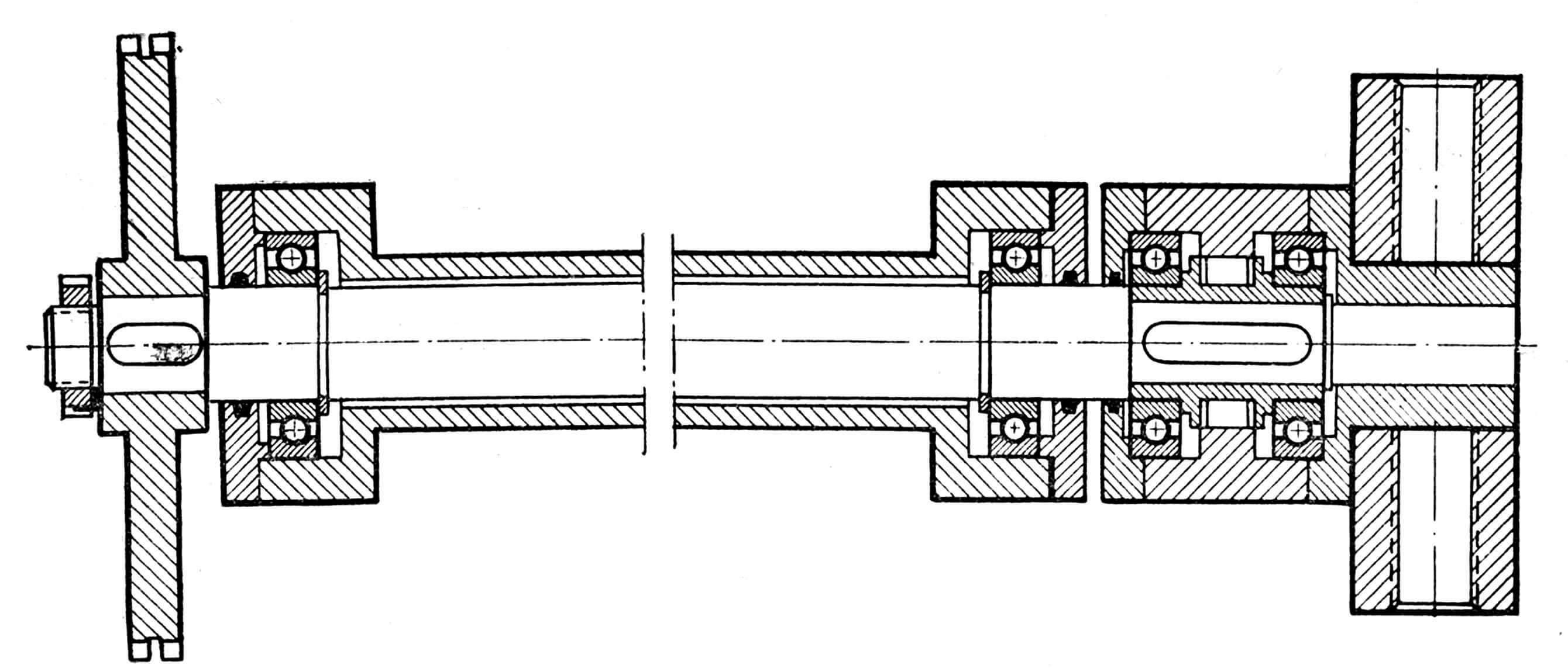 Рис. 2. Привод цепным редуктором