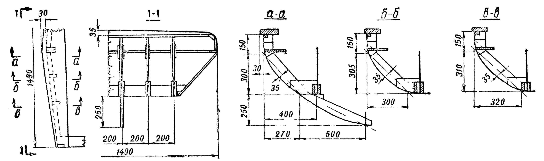 Рис. 3. Элементы носовой части корпуса.