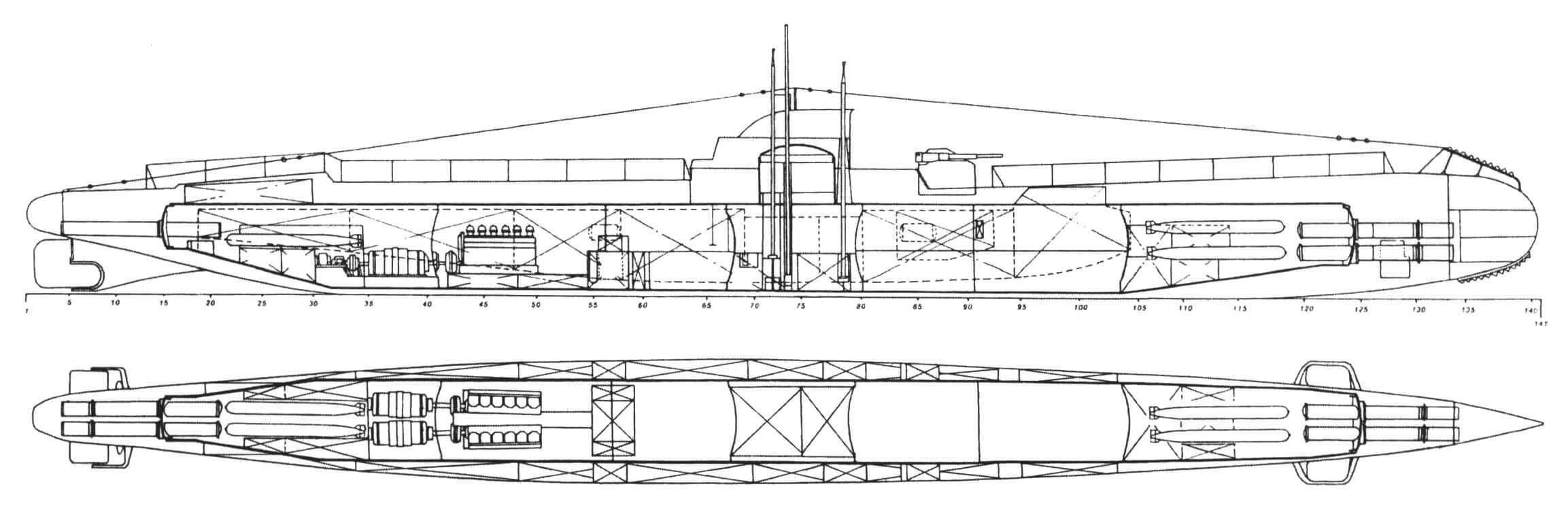 Подводная лодка «Дельфинул» (Румыния, 1936 г.). Строилась фирмой «Кантьери Навали ди Куарнаро» в Фиуме (Италия) по заказу Румынии. Тип конструкции - полуторакорпусный. Водоизмещение надводное/подводное 650/900 т. Размеры: длина - 68,58 м, ширина - 5,94 м, осадка - 3,66 м. Глубина погружения - до 60 м. Двигатель: два дизеля мощностью 800 л.с. + два электромотора мощностью 800 л.с. Скорость надводная/ подводная - 14/9 уз. Вооружение: восемь 533-мм торпедных аппаратов (шесть в носу и два в корме, восемь торпед), одно 102-мм орудие, впоследствии добавлен пулемет. Экипаж - 40 чел. Заложена в 1928 г., в 1931-м вступила в строй и временно вошла в состав итальянского ВМФ. В 1936 г. передана Румынии. Захвачена советскими войсками в сентябре 1944 г. и включена в состав Черноморского флота. В октябре 1944 г. лодка переименована в «ТС-3» и через год возвращена Румынии под прежним именем