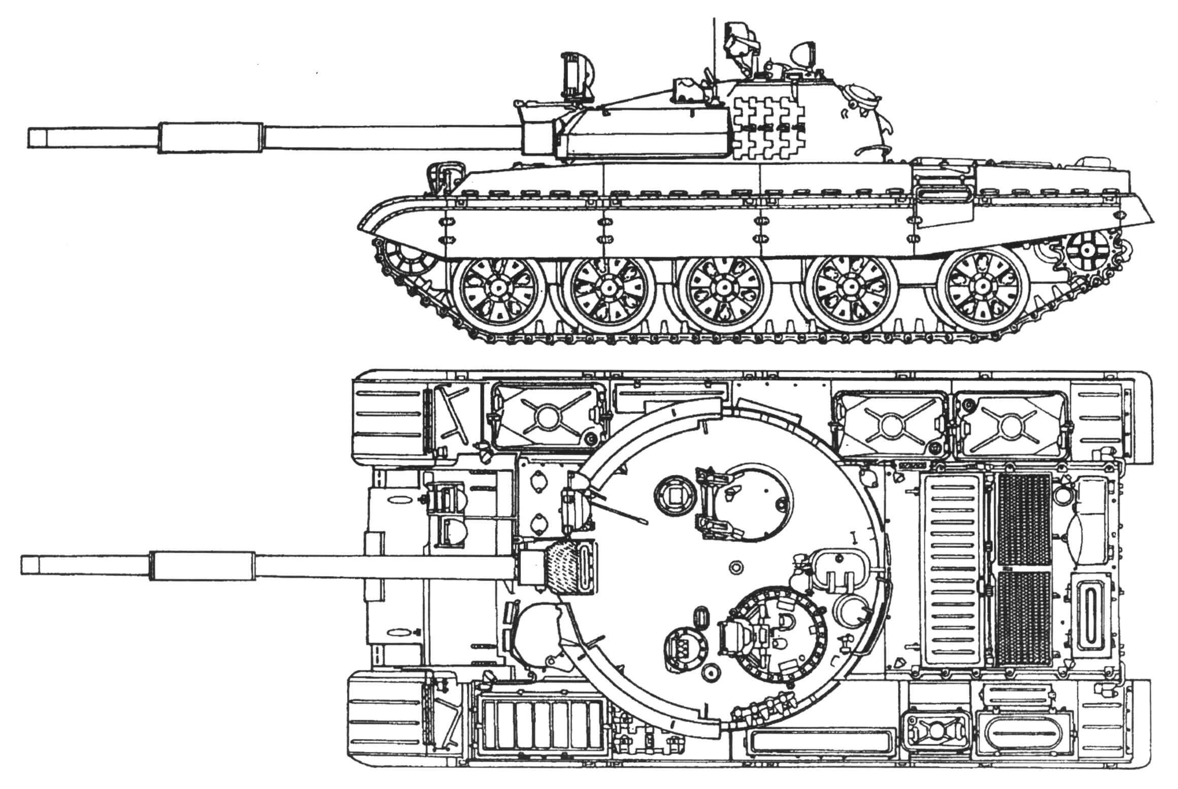 Общий вид танка Т-62М