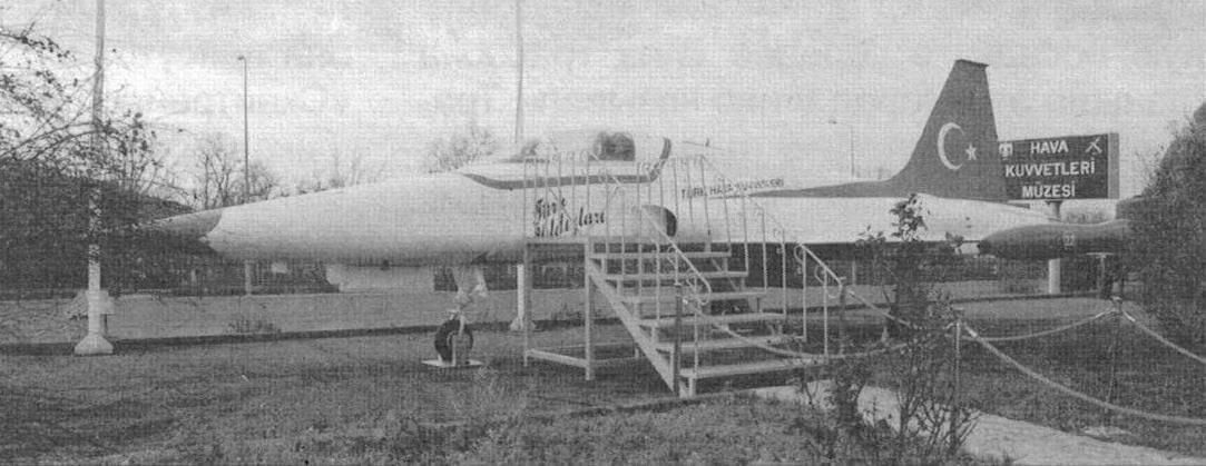 Самолет NF-5A, использовавшийся пилотажной группой «Тюрккю-шю» («Турецкие птицы»)