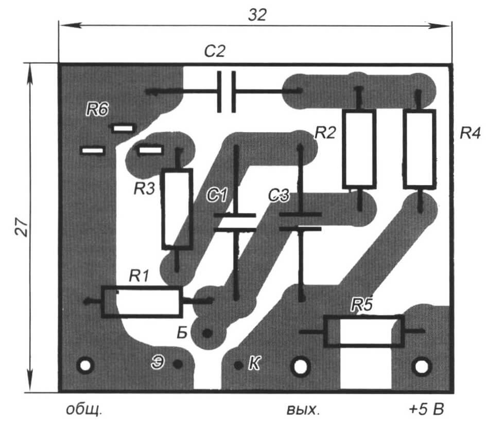 Рис. 9. Печатные платы модулей МВ (вверху) и ГС (внизу)