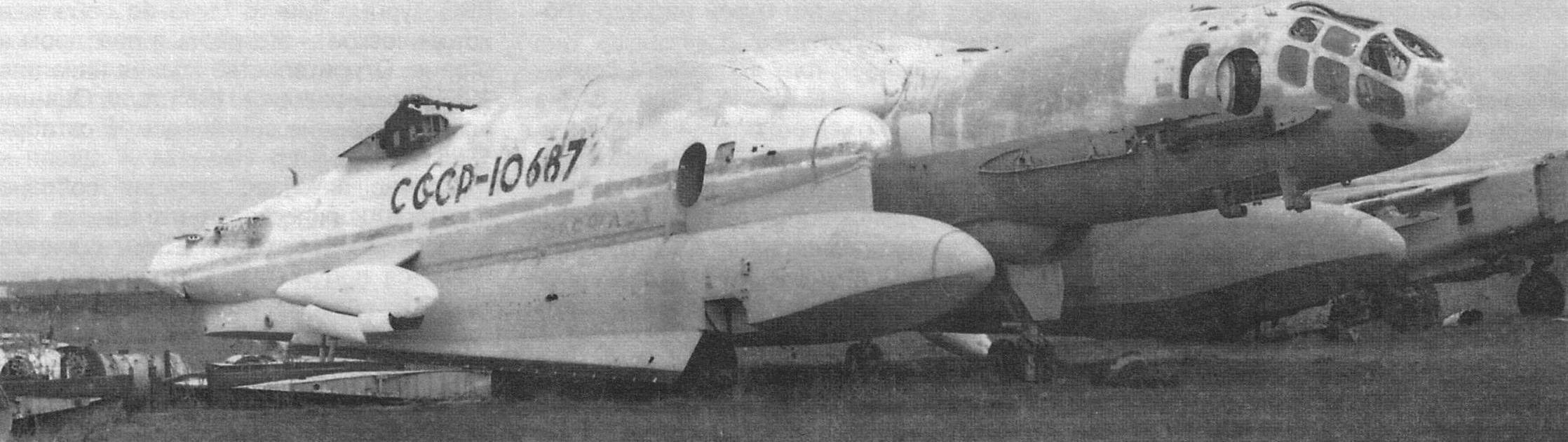Останки 14М1П на задворках Музея ВВС в подмосковном Монино