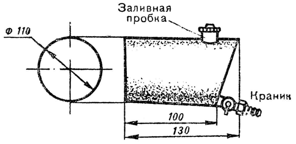 РИС. 5. БЕНЗОБАК С КРАНИКОМ.