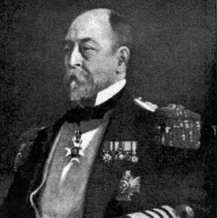 Младший флагман британской эскадры в Средиземном море контр-адмирал Александр Маркхем, ставший невольным виновником гибели «Виктории»