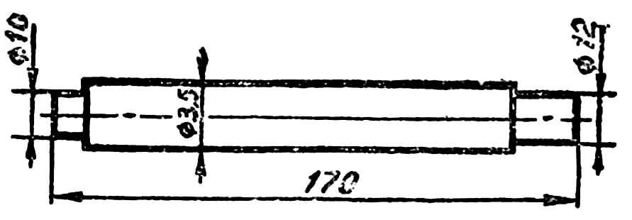 Рис. 9. Валик стартера (см. поз. 28 на рис. 4).
